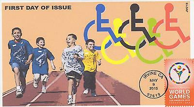 Jvc Cachets-2015 Special Olympics Issue First Day Cover Fdc Topical Sports #1