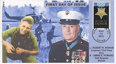 Jvc Cachets-2015 Medal Of Honor Vietnam  Issue First Day Cover Fdc Marines-Navy
