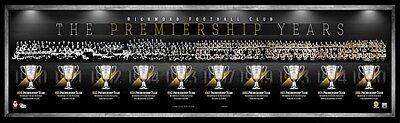 Richmond Tigers – Premiership History Montage – Framed - Official AFL Release