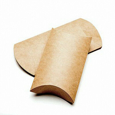 "25 Brown Kraft Pillow Boxes; 3 x 1 x 5 "" for Gifts/Packaging; Can Be Embellished"
