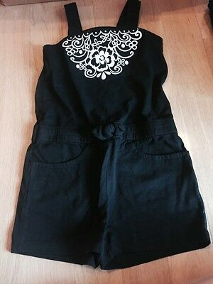 NWT Gymboree Girls Size 4 Black & White Embroidered Romper CLASSY Outfit