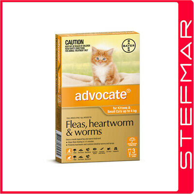 Bayer Advocate Cat Upto 4Kg Small Orange 3Pack