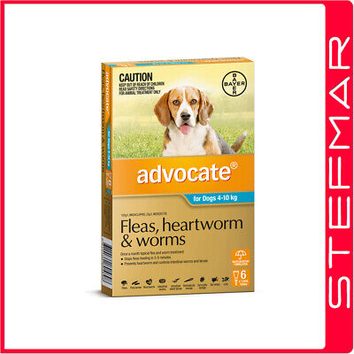 Advocate for Dogs 4-10Kg Medium Blue 6Pack EXP 04/19