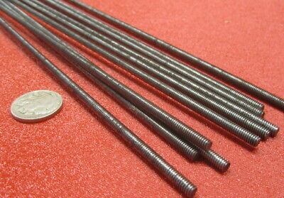 Threaded Steel Rods, Low Strength, RH, 8-32 x 3 Foot Length, 10 Units