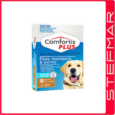 Comfortis Plus for Dogs 6 Pack Brown 27.1-54Kg