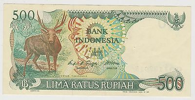 (H8-50) 1988 Indonesia 500 Rupiah bank note (A)