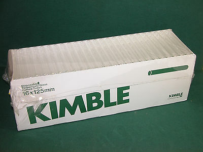 Kimble 16mm x 125mm Disposable Glass Culture Tubes, Qty 225