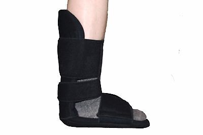 Black Breathable Adjustable Foot Dorsal Night Splint - Ultra light brace support
