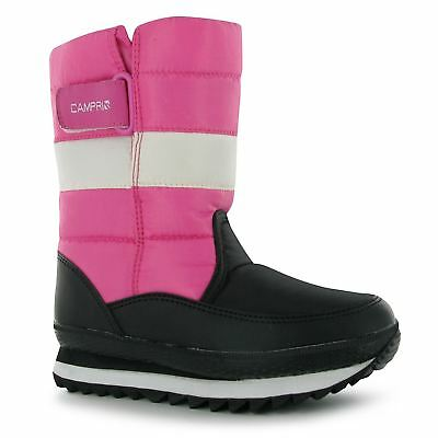 Campri Snow Jogger Boots Infants Girls Black/Pink Baby Winter Shoes-