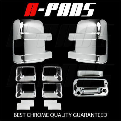 For Ford F-250/f-350 08-16 Chrome Mirror, Door Handle & Tailgate Cover W/ Cam