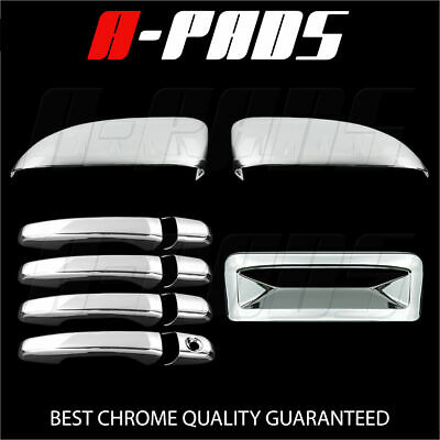 For Ford Explorer 11-14 Chrome Top Half Mirror, Door Handle, Tailgate Cover