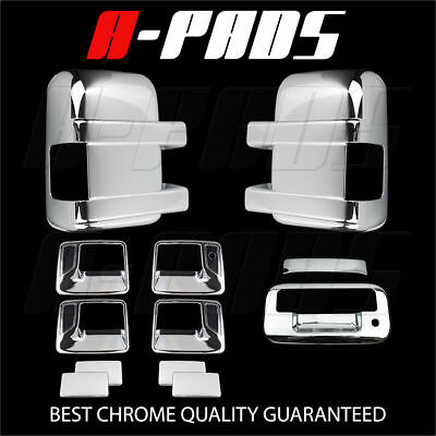 For Ford F-250/f-350 08-16 Chrome Mirror, Door Handle & Tailgate Cover W/o Cam
