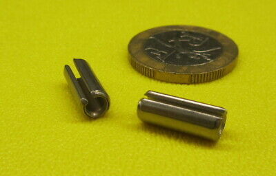 """420 Stainless Steel, Slotted Roll Spring Pin, 3/16"""" Dia x 1/2"""" Length, 150 pcs"""