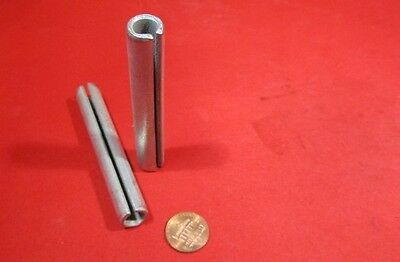"Zinc Plate Steel Slotted Roll Spring Pin, 1/2"" Dia x 3 1/4"" Length, 10 pcs"