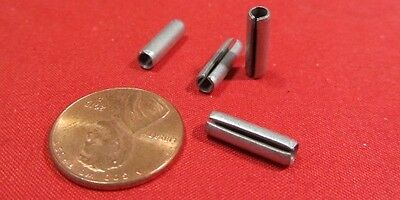 """Zinc Plate Slotted Roll Spring Pin, 9/64"""" Dia x 1/2"""" Length, 50 pcs"""