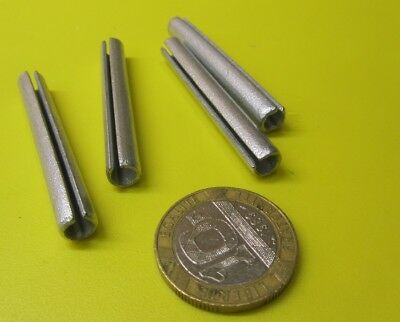"""Zinc Plate Slotted Roll Spring Pin, 1/4"""" Dia x 2"""" Length, Pkg of 50 pcs"""