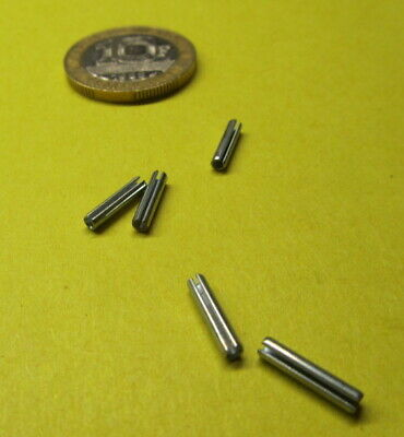 """Zinc Plate Slotted Roll Spring Pin, 5/64"""" Dia x 3/8"""" Length, 500 pcs"""
