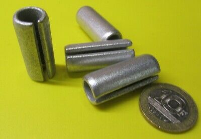 """Zinc Plate Slotted Roll Spring Pin, 1/2"""" Dia x 1 1/4"""" Length, Pkg of 20 pcs"""