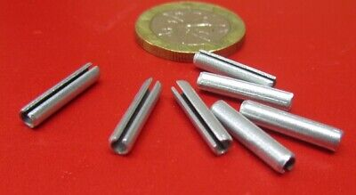 "Zinc Plate Steel Slotted Roll Spring Pin, 1/8"" Dia x 5/8"" Length, 500 pcs"