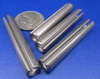 "420 Stainless Steel, Slotted Roll Spring Pin, 3/8"" Dia x 2 1/4"" Length, 10 pcs"