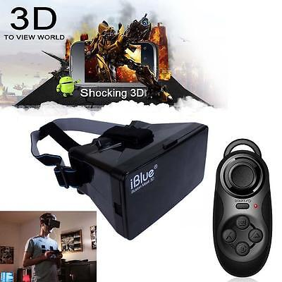 Virtual Reality 3D Glasses for iPhone Google Cardboard + Controller Gamepad #A