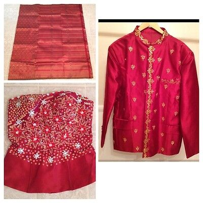 Khmer Cambodia Traditional Wedding Bride Outfit And Groom Jacket Suit