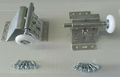 "Heavy Duty Garage Door Adjustable Top Bracket w/ 2"" Nylon Rollers"