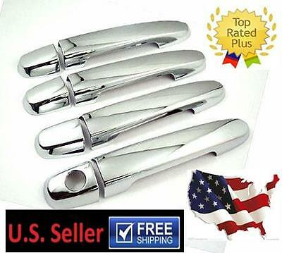 Mirror Chrome  Door Handle Cover Trims For 2007 - 2011 Toyota Camry Highlander
