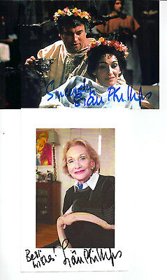 "2 x FAB SIGNED PROMO PHOTO'S (COA) OF SIAN PHILLIPS ""I, CLAUDIUS"" RECEIVED TTM"