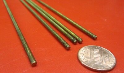 Threaded Brass Rods, RH, 4-40 x 2 Foot Length, 5 Units