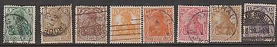 (GA-12) 1902-21 Germany mix of 40stamps 3pf to 80pf mint& used