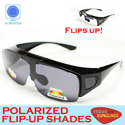 1da4775e791 FIT OVER FLIP UP SUNGLASSES POLARIZED FOR READING GLASSES Men Women Unisex