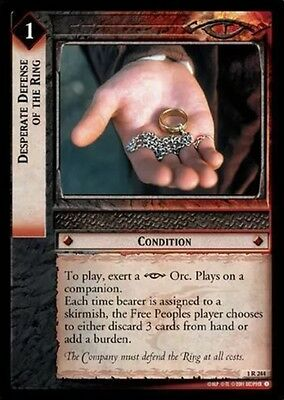 LORD OF THE RINGS TCG - 1R 244 Desperate Defense Of The Ring - Decipher  Lotr