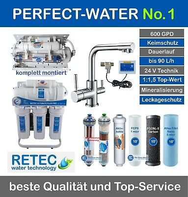 Ultimate PLUS PRO Umkehr Osmose Wasserfilter 600 GPD direct flow Mod. gen 2018