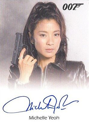 2017 James Bond Archives Final Edition Michelle Yeoh Full-Bleed Autograph Card