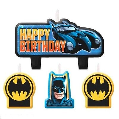 Batman Kid Birthday Party Cake 4 Pieces Set Candles