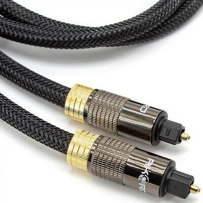 2m OPTICAL CABLE DIGITAL AUDIO Lead TOSLink SPDIF SKY DTS SURROUND SOUND Metre