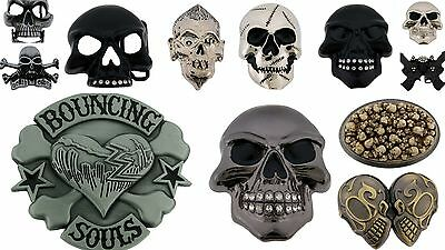 12Pcs Wholesale Belt Buckle Skull Gothic Vintage Fashion Mens Silver Metal Rodeo