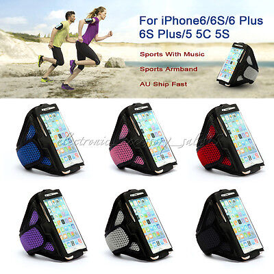For iPhone 6 6 Plus 5 5 S Sports Running Jogging Gym Case Cover Mesh Armband