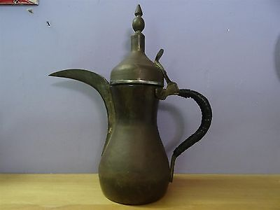Big Antique Turkish Islamic Arabic Dallah Copper Brass Tea Coffee Pot 32 Cm Sing