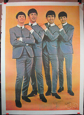 Original BEATLES 1964 Giant Promo USA Poster