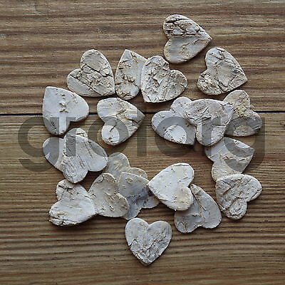 Small Rustic Birch Bark Hearts Weddings Bridal