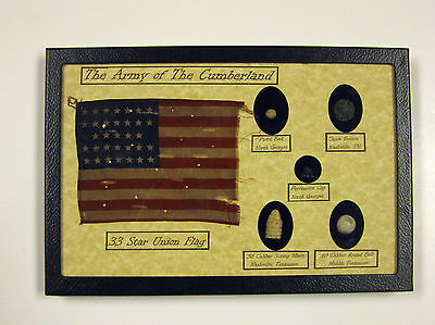 Army of the Cumberland Union Items  5 pc Bullet & Button Set with COA