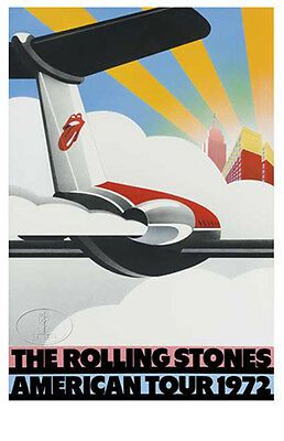 ROLLING STONES 1972 Exile Concert Tour Poster