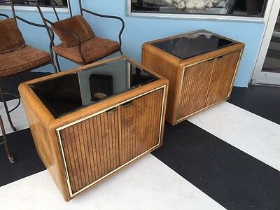 Pair Of American Of Martinsivlle Side Tables Or Nightstands  Mid Century Modern