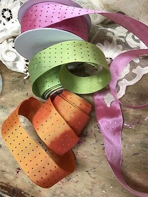 "POLKA DOT FRENCH RIBBON 1.5"" Made in France 1yd"