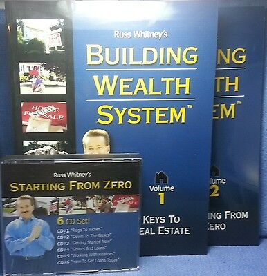 RUSS WHITNEY: STARTING FROM ZERO/ BUILDING WEALTH SYSTEM - 6-CD + 2 Book Set