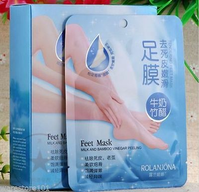 2 Pairs EXFOLIATING FEET MASK - Peeling Dead Skin Callus Dry Hard Skin Treatment