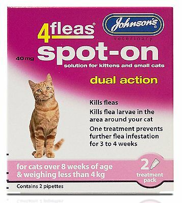 4Fleas Dual Action Spot On For Cats and Kittens