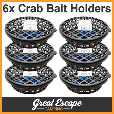Bait Ezy Crab Bait Holder Cage w/ Base Clip for Crabs Yabbies Redclaw 6 Pack